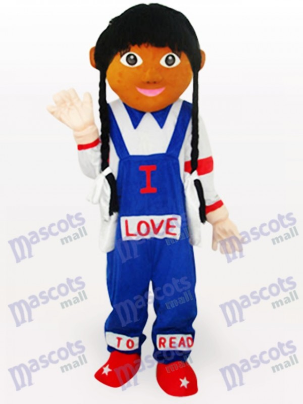 Cow Girl Cartoon Adult Mascot Costume