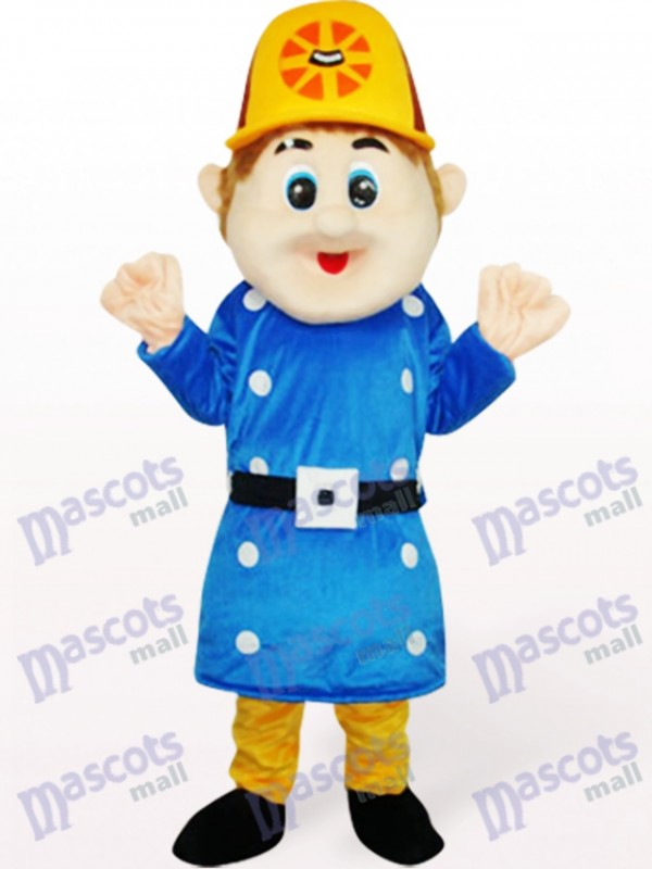 Blue Worker Sam Adult Mascot Costume