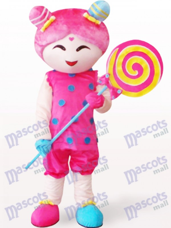 Candy Girl Cartoon Adult Mascot Costume