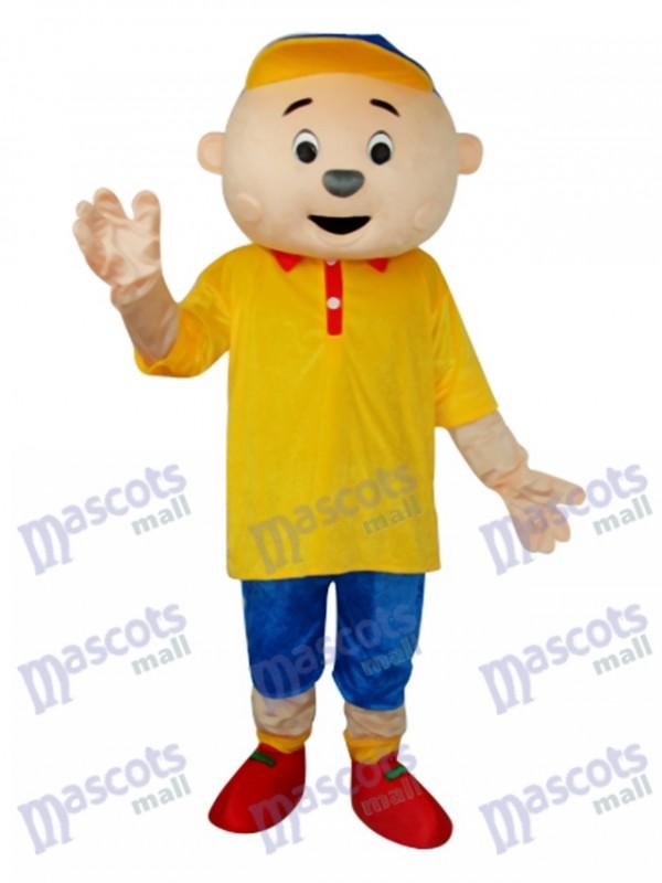 Yellow Boy Mascot Adult Costume