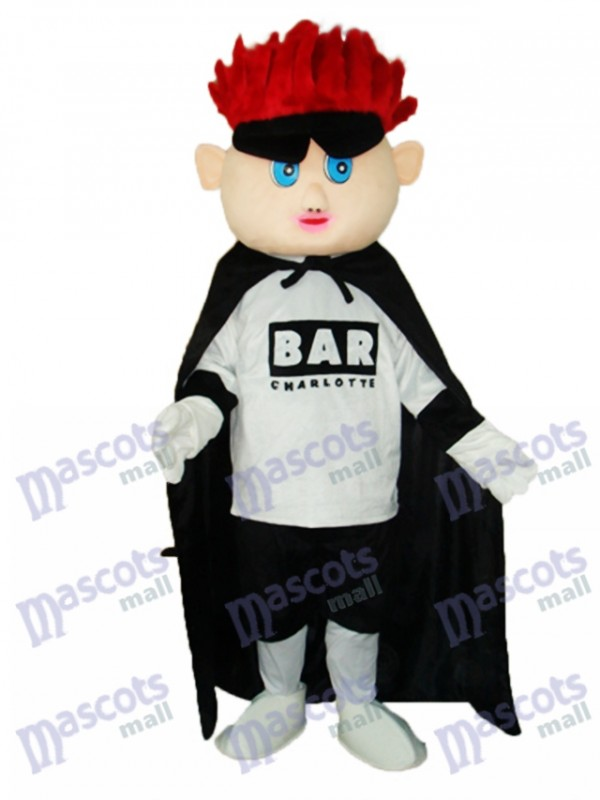 Red Hair Boy (facelift) Mascot Adult Costume