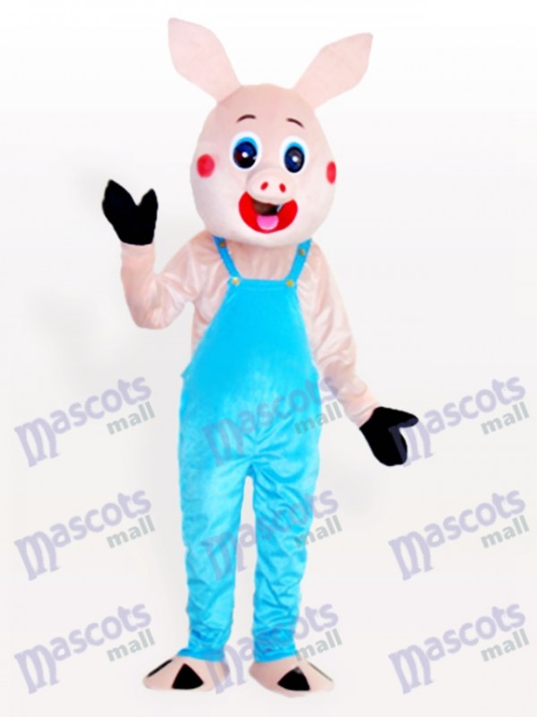 Mr. Pig in Bib Overalls Adult Animal Mascot Costume