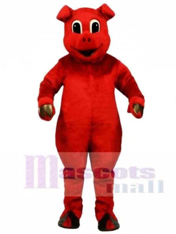 Cute Ruddy Red Pig Mascot Costume