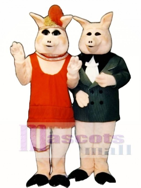 Cute Peaches Pig Mascot Costume