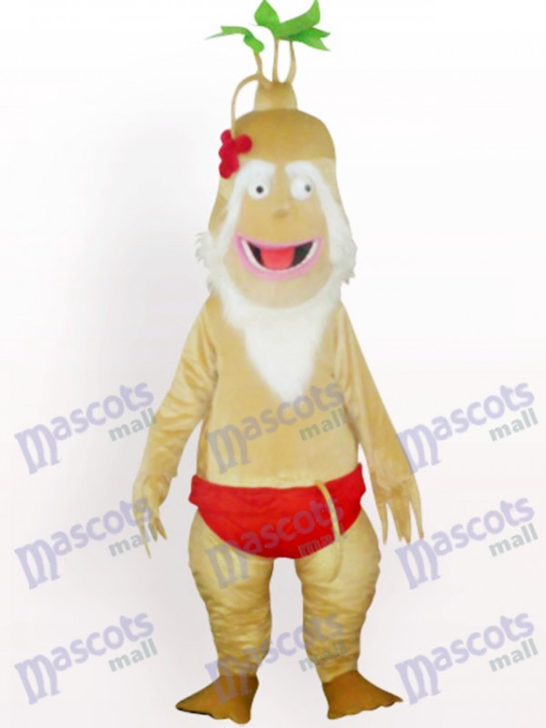 Old Ginseng Plant Adult Mascot Costume