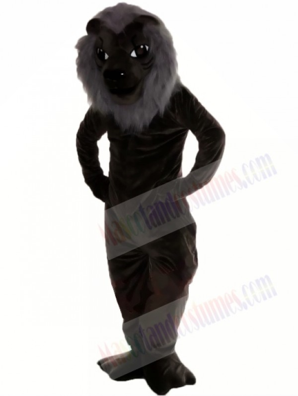 Black Lion Mascot Costume