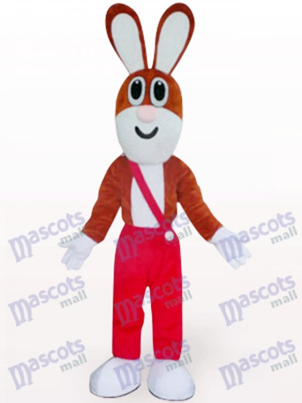 Easter Rabbit In Red Trousers Animal Mascot Costume