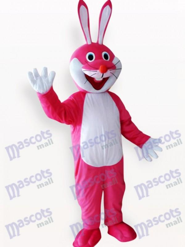 Easter Pink Rabbit Animal Adult Mascot Costume