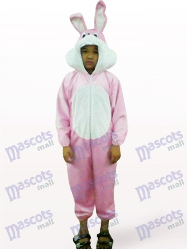 Easter Pink Rabbit Open Face Kids Animal Mascot Costume