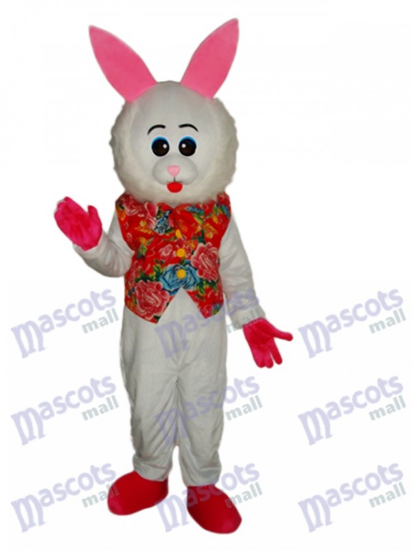 Easter Furry Face Rabbit Mascot Adult Costume