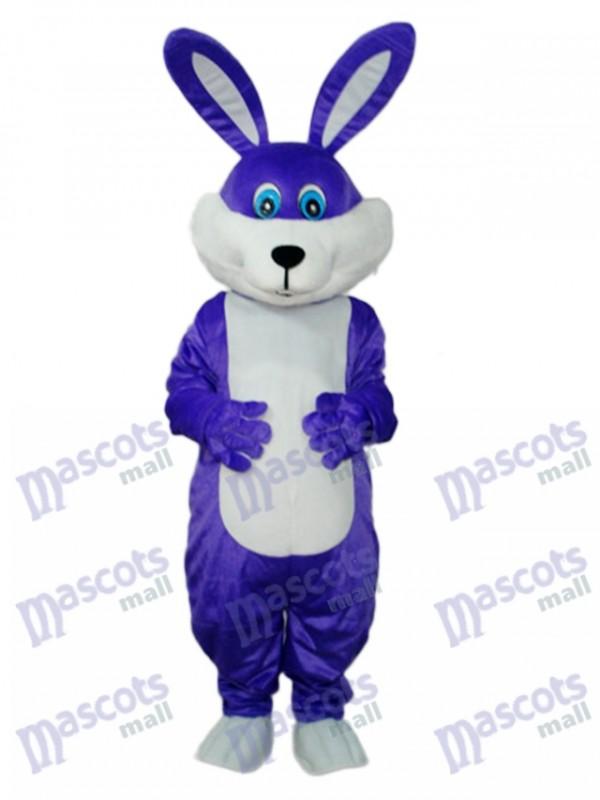 Easter Purple Rabbit Mascot Adult Costume