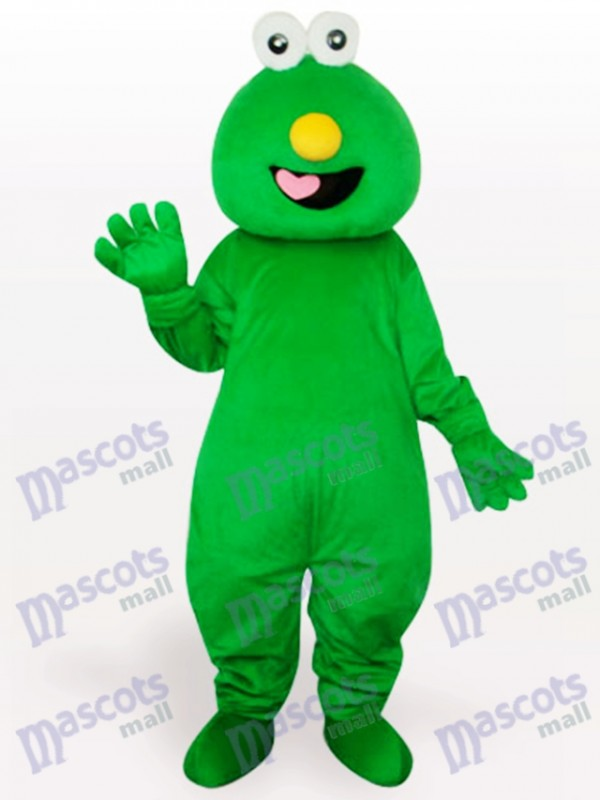 Short Hair Green Monster Adult Mascot Costume