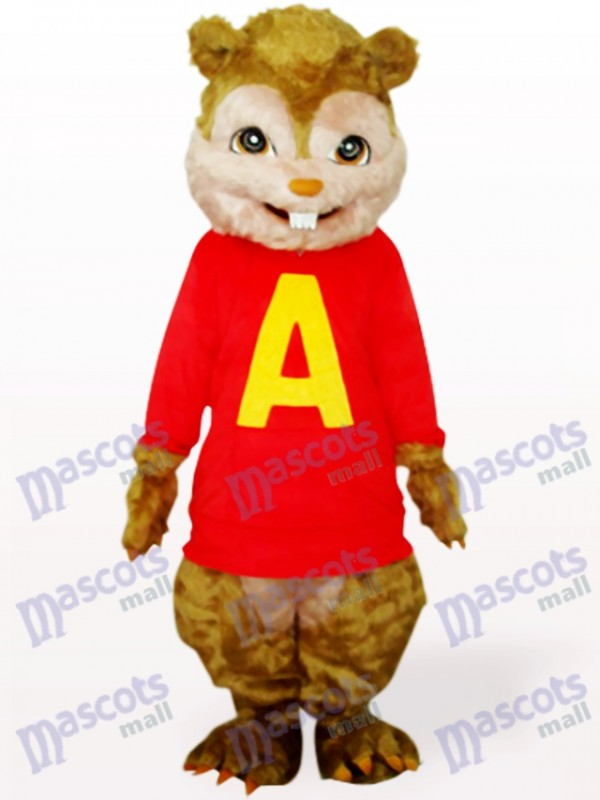 Red Squirrel With Long Hair And Short Teeth Animal Adult Mascot Costume
