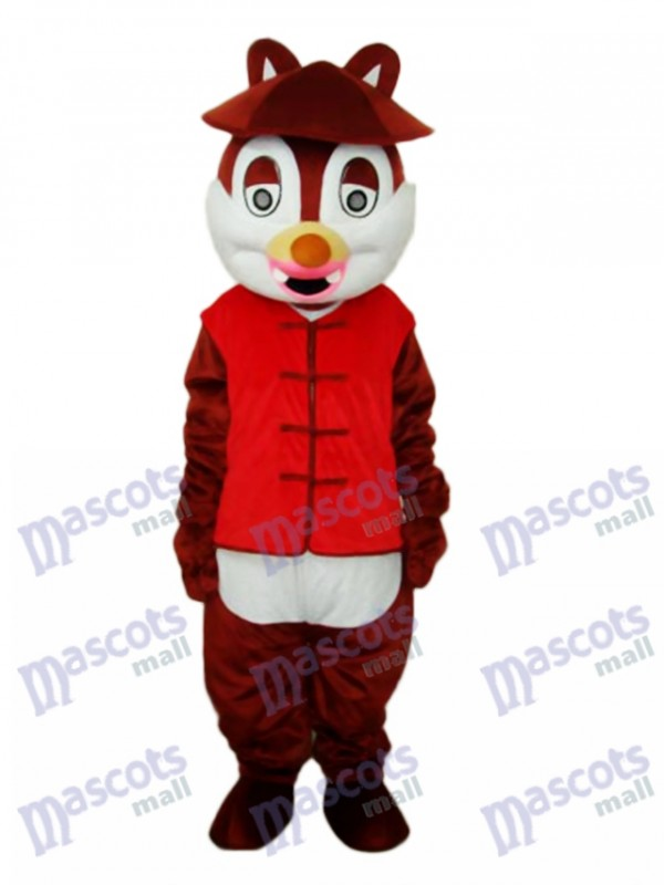 Hat Squirrel Mascot Adult Costume