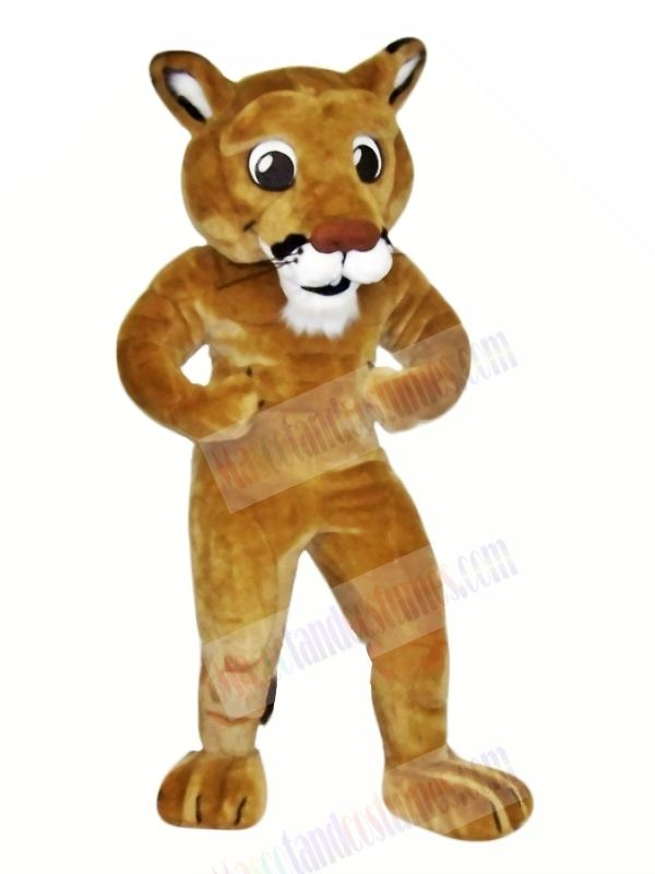 Power Brown Lion Mascot Costumes Cartoon