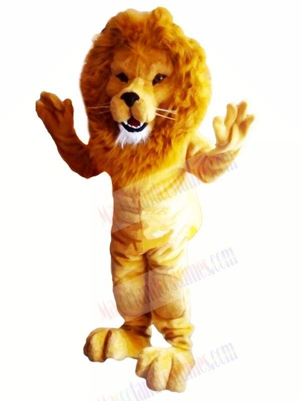 Power Muscular Lightweight Lion Mascot Costumes Adult