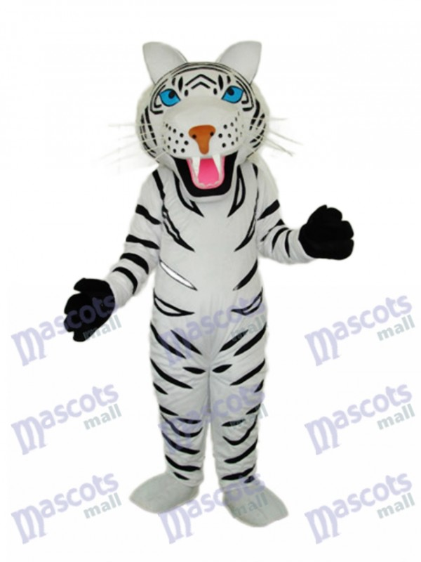 White Tiger Mascot Adult Costume
