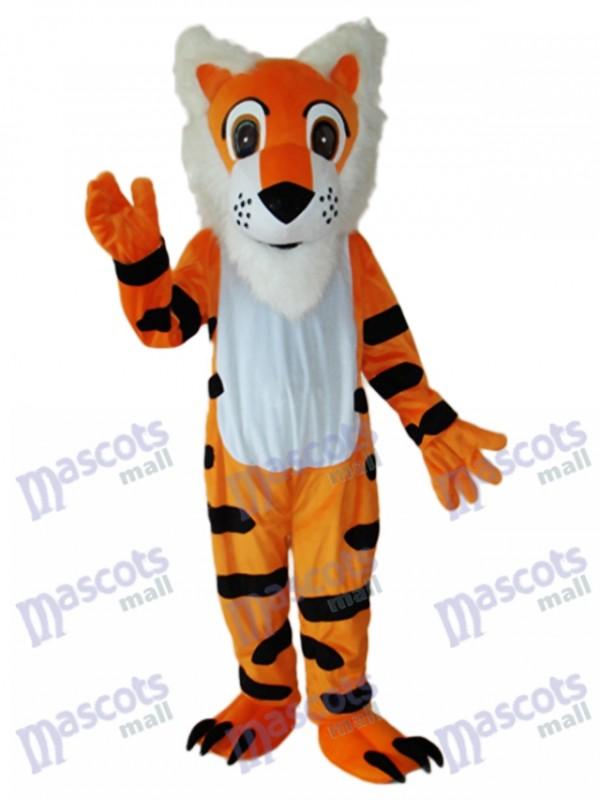 Long Beard Tiger Mascot Adult Costume