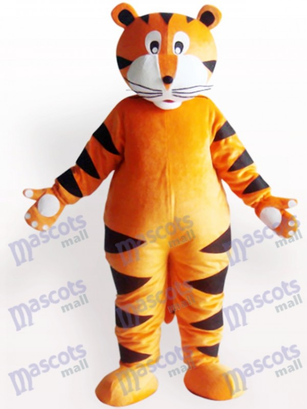 Tiger With White Claw Animal Adult Mascot Costume