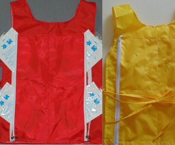 Mascot Costume Cooling Vest for Storing Cooling Packs