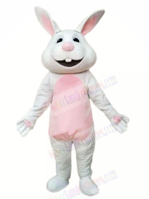 Smiling Gray Rabbit Mascot Costumes Animal
