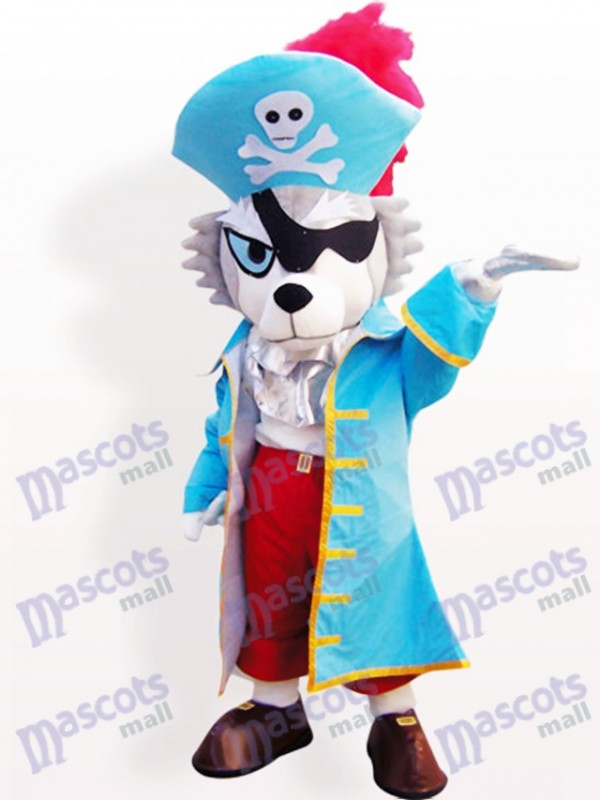 Pirate Wolf Animal Adult Mascot Funny Costume
