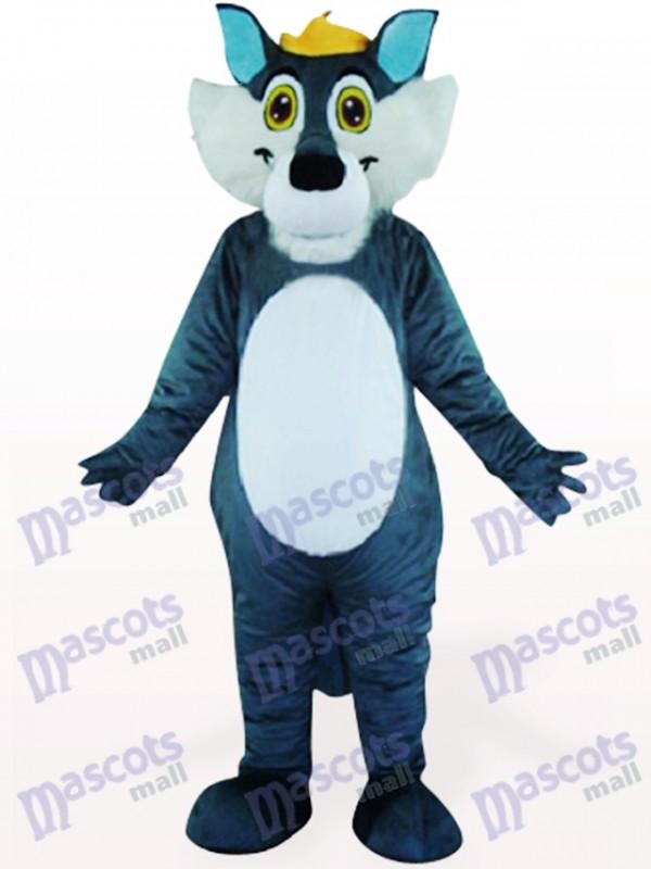 Gray Wolf Animal Mascot Costume