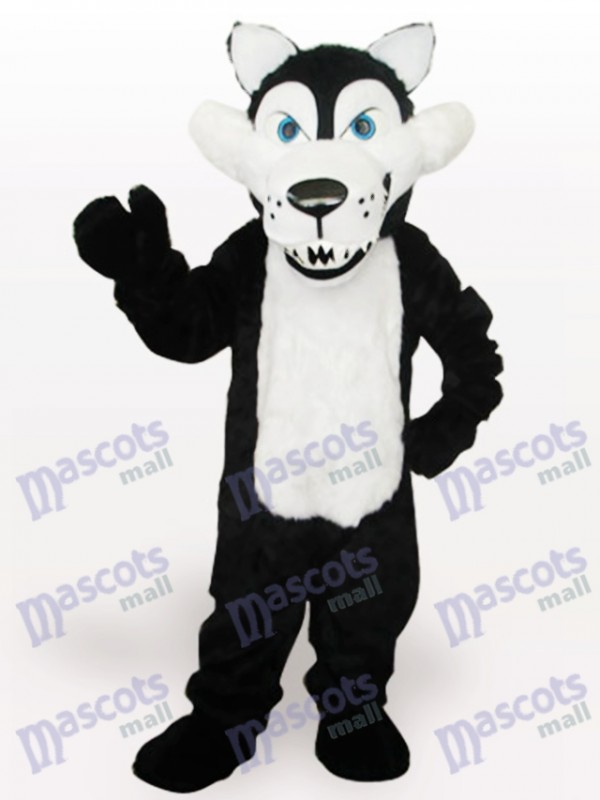 White Belly Wolf Animal Adult Mascot Costume