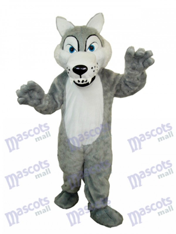 Long-haired Wolf  Mascot Adult Costume Animal