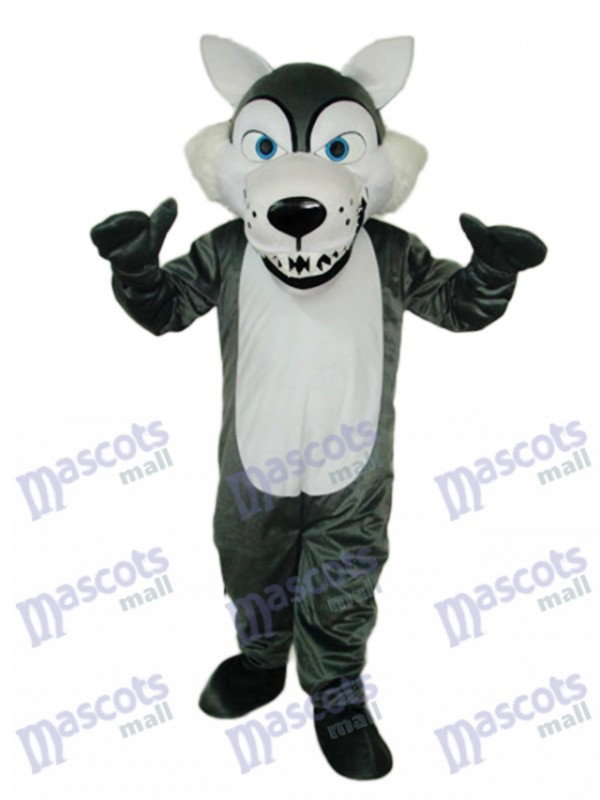 Short-haired Wolf Mascot Costume Animal