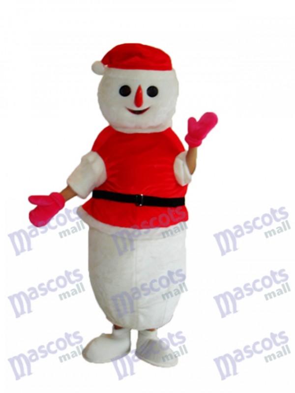 Christmas Snowman Mascot Adult Costume