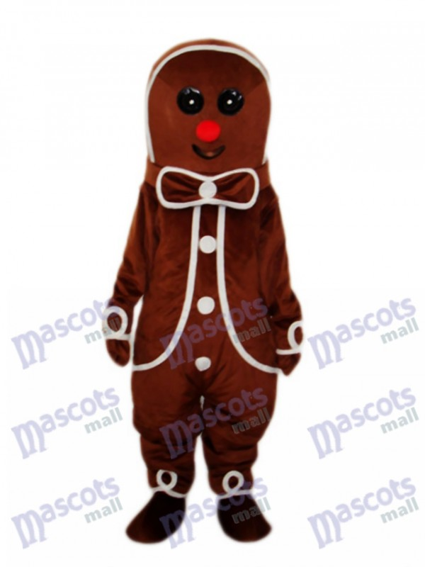 Gingerbread Man Mascot Adult Costume