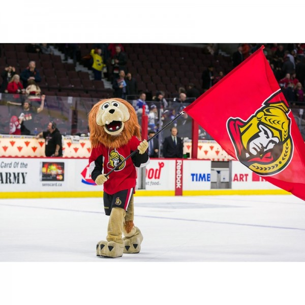 Spartacat Lion of the Ottawa Senators Mascot Costume